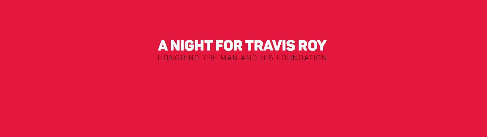 A Night For Travis Roy