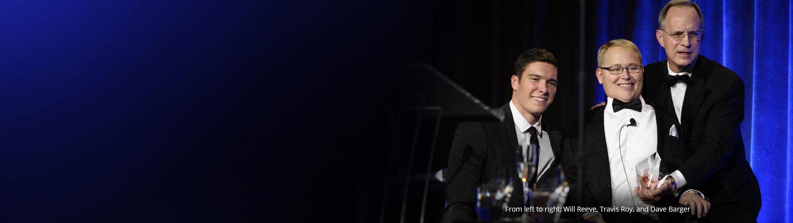 Travis Roy receives Spirit of Courage Award