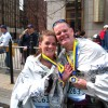 COURTSEY PHOTOGeorge Ogin with daughter Nicole after previous Boston Marathon.