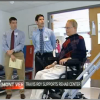Travis Roy visits Fanny Allen Rehab Center in VT