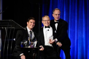 Travis Roy honored by the Christopher & Dana Reeve Foundation with the Christopher Reeve Spirit of Courage Award in NYC.