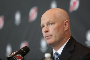 The Devils introduce new head coach John Hynes during a press conference at the Prudential Center in Newark. 6/2/15 Photo by John O'Boyle | for NJ Advance Media