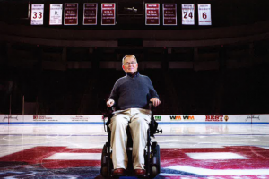 Travis Roy reflects on his life 20 years after a paralyzing injury and talks about what he sees for his future. Photo by Jackie Ricciardi
