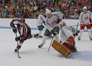 Boston College and Boston University alum hit the ice at the 2015 Comm. Ave. Charity Classic.