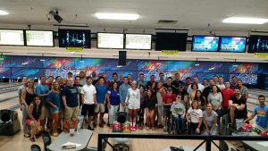 The Comets Express bowling fundraiser for the TRF WIFFLE Ball Tournament.