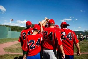 The Curse Lifted team at the 2015 WIFFLE Ball Tournament.