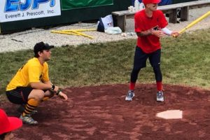 Mark up at bat during the 2015 TRF WIFFLE Ball Tournament in Vermont.