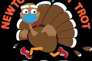 Turkey in Face Mask Running