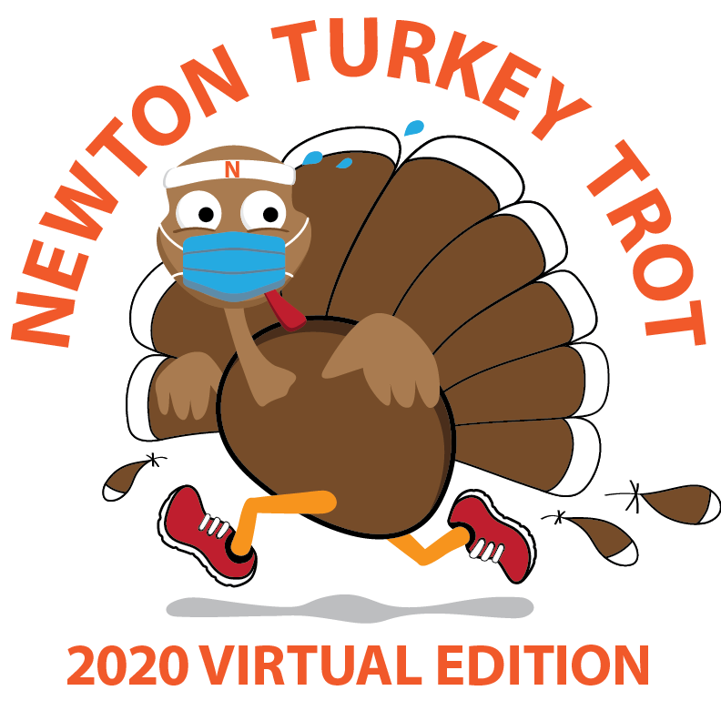 Turkey in Face Mask Running